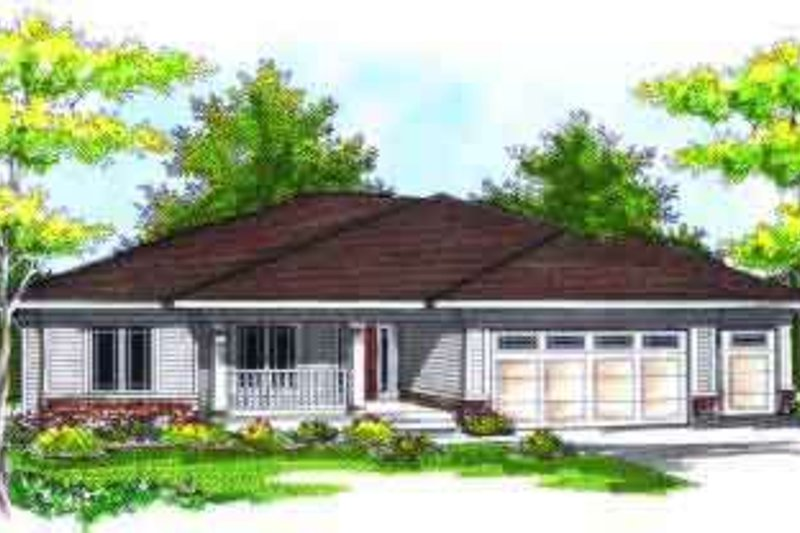 Ranch Exterior - Front Elevation Plan #70-715
