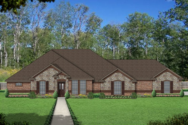 European Exterior - Front Elevation Plan #84-521