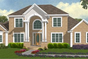 Classical Exterior - Front Elevation Plan #63-319