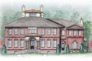 Colonial Style House Plan - 5 Beds 5.5 Baths 5713 Sq/Ft Plan #54-125