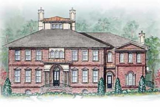Colonial Exterior - Front Elevation Plan #54-125