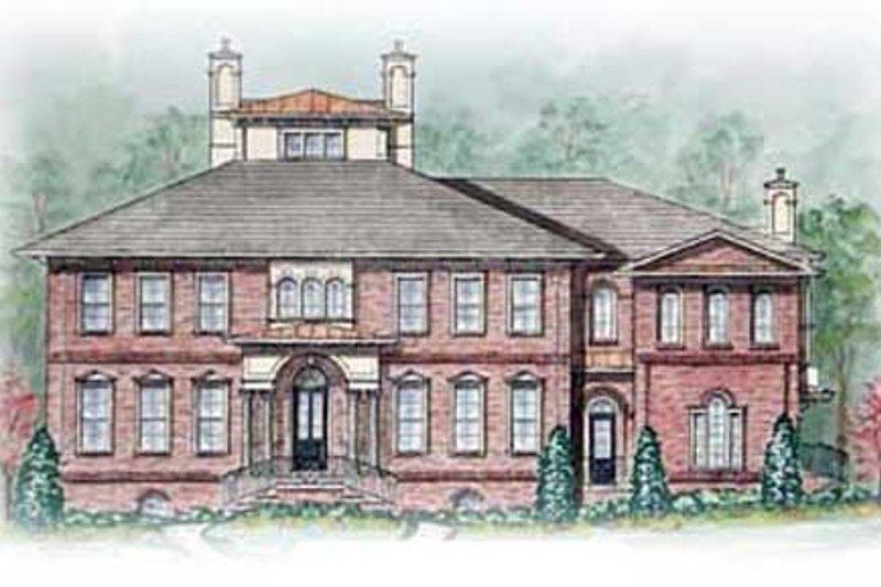 Colonial Exterior - Front Elevation Plan #54-125 - Houseplans.com