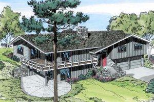 Ranch Exterior - Front Elevation Plan #312-559