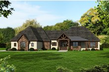 Dream House Plan - European Exterior - Front Elevation Plan #932-11