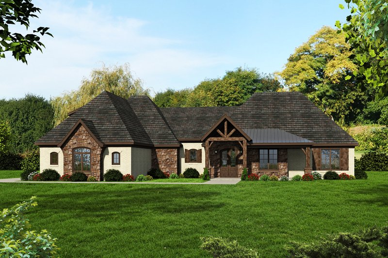 Dream House Plan - European Exterior - Front Elevation Plan #932-11