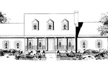 Dream House Plan - Southern Exterior - Other Elevation Plan #3-189