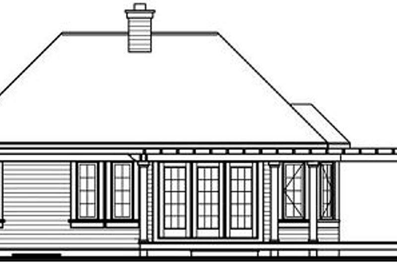 Country Exterior - Rear Elevation Plan #23-703 - Houseplans.com