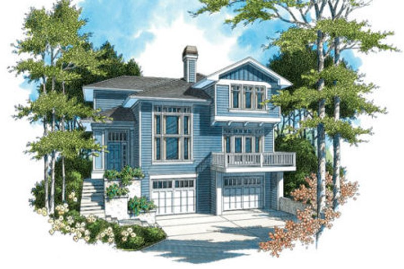 Craftsman Exterior - Front Elevation Plan #48-310