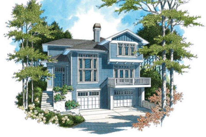 Craftsman Exterior - Front Elevation Plan #48-310
