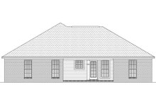 Home Plan Design - European Exterior - Rear Elevation Plan #430-58