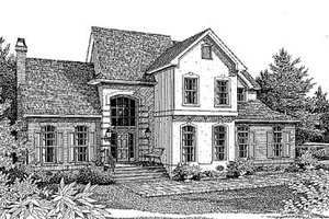 European Exterior - Front Elevation Plan #41-167