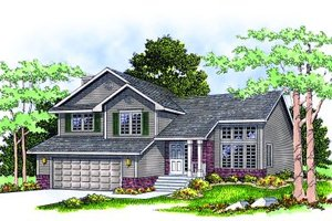 Architectural House Design - Traditional Exterior - Front Elevation Plan #70-181