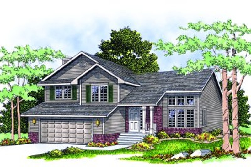 Traditional Exterior - Front Elevation Plan #70-181 - Houseplans.com