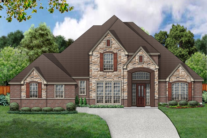 European Exterior - Front Elevation Plan #84-408