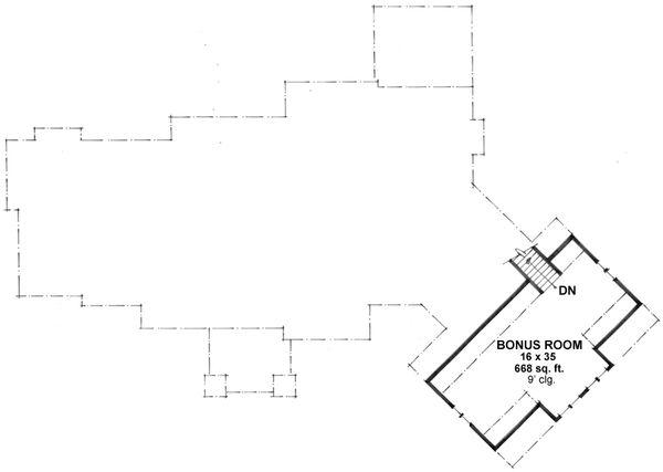 Craftsman Floor Plan - Upper Floor Plan Plan #51-581