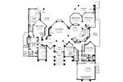 Contemporary Style House Plan - 4 Beds 4.5 Baths 5039 Sq/Ft Plan #930-507 Floor Plan - Main Floor Plan