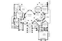 Contemporary Floor Plan - Main Floor Plan Plan #930-507