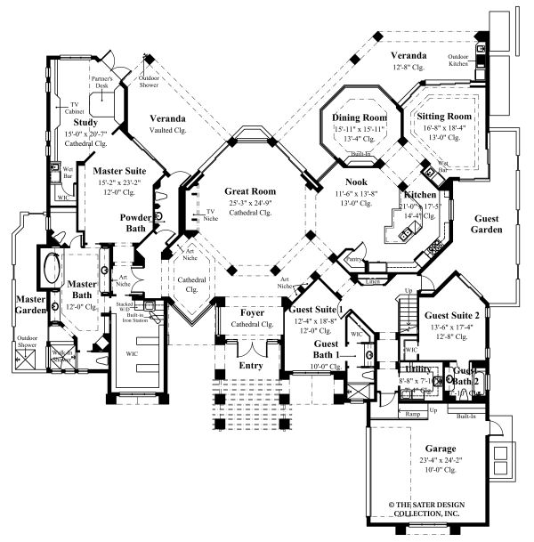 Contemporary Floor Plan - Main Floor Plan Plan #930-507
