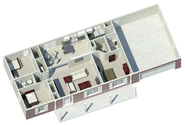 Country Floor Plan - Other Floor Plan Plan #57-171