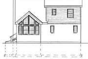 Cottage Style House Plan - 3 Beds 2 Baths 1433 Sq/Ft Plan #75-167 Exterior - Rear Elevation