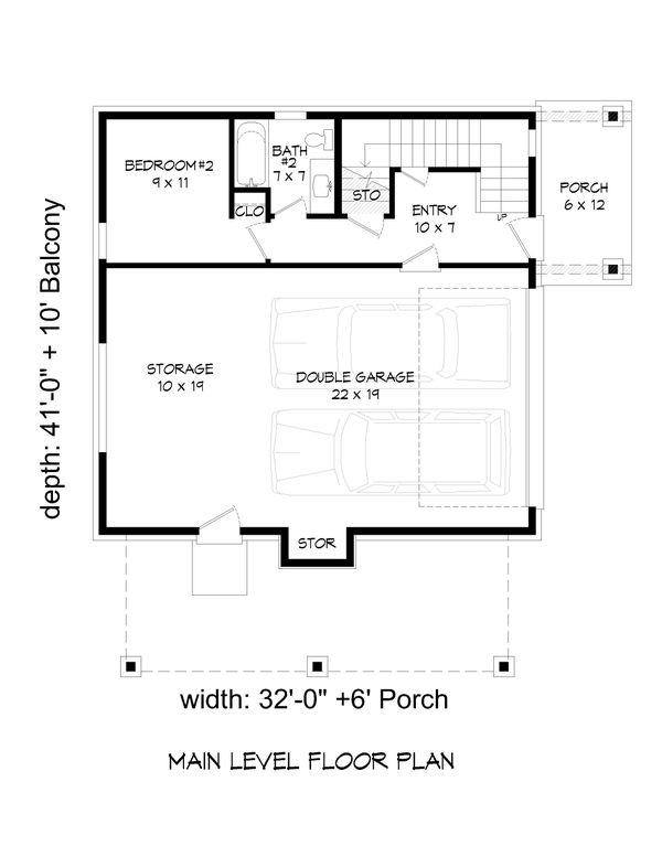 Modern Floor Plan - Main Floor Plan #932-373