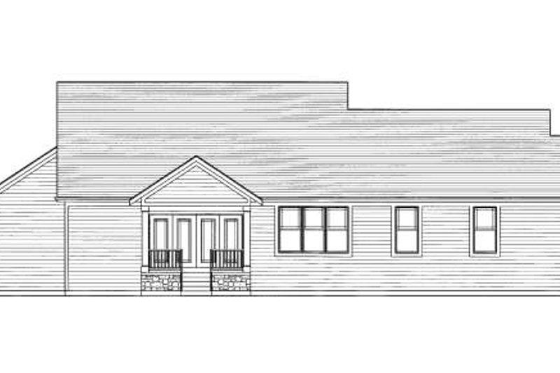 Craftsman Exterior - Rear Elevation Plan #46-419 - Houseplans.com