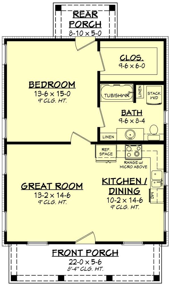 Dream House Plan - Farmhouse Floor Plan - Main Floor Plan #430-257