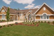 Traditional Style House Plan - 5 Beds 5 Baths 6439 Sq/Ft Plan #458-1 Exterior - Front Elevation