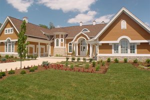 Traditional Exterior - Front Elevation Plan #458-1