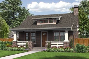 Architectural House Design - Bungalow Exterior - Front Elevation Plan #48-666