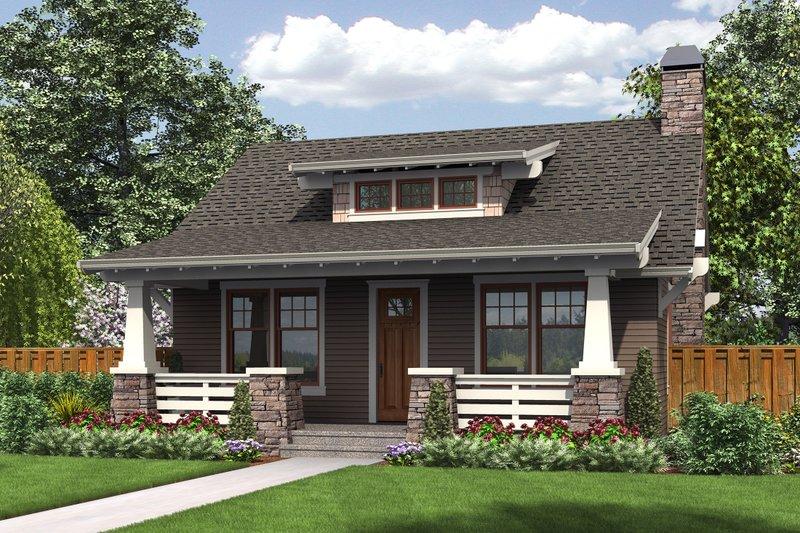 Home Plan - Bungalow Exterior - Front Elevation Plan #48-666