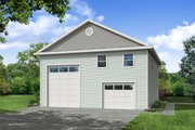 Traditional Style House Plan - 1 Beds 1.5 Baths 872 Sq/Ft Plan #124-1197