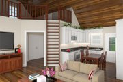 Cottage Style House Plan - 2 Beds 1 Baths 1016 Sq/Ft Plan #21-441 Interior - Family Room