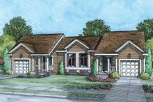 Dream House Plan - Ranch Exterior - Front Elevation Plan #20-2241