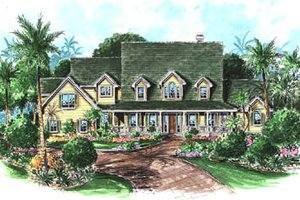 Country Exterior - Front Elevation Plan #27-223