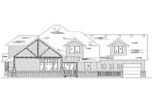 Home Plan - Bungalow Exterior - Rear Elevation Plan #5-407