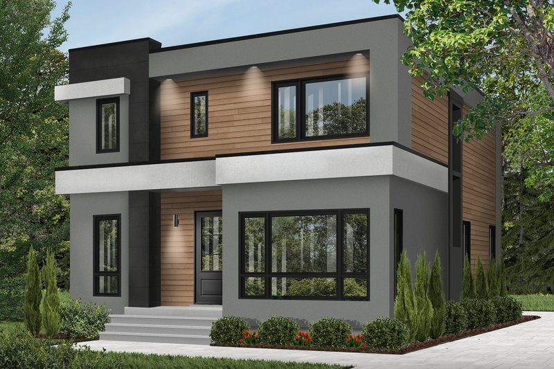 House Design - Contemporary Exterior - Front Elevation Plan #23-2646