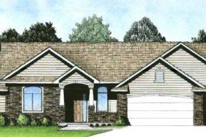 Architectural House Design - Craftsman Exterior - Front Elevation Plan #58-180