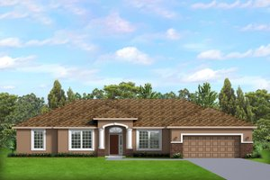 House Blueprint - Ranch Exterior - Front Elevation Plan #1058-192