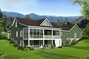 Country Style House Plan - 2 Beds 2 Baths 1650 Sq/Ft Plan #932-37 Exterior - Rear Elevation