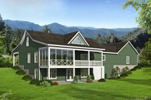 Country Exterior - Rear Elevation Plan #932-37