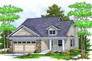 Traditional Style House Plan - 2 Beds 2 Baths 1348 Sq/Ft Plan #70-675 Exterior - Front Elevation