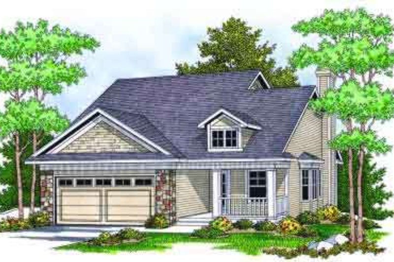 Home Plan - Traditional Exterior - Front Elevation Plan #70-675