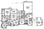 European Style House Plan - 4 Beds 4.5 Baths 3874 Sq/Ft Plan #310-1315 Floor Plan - Main Floor Plan