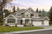 Craftsman Style House Plan - 4 Beds 2.5 Baths 3015 Sq/Ft Plan #132-142 Exterior - Front Elevation