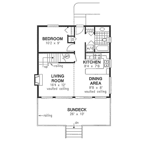 House Design - Cabin Floor Plan - Main Floor Plan #18-230