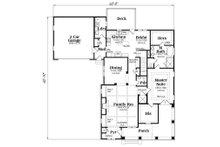 Craftsman Floor Plan - Main Floor Plan Plan #419-265