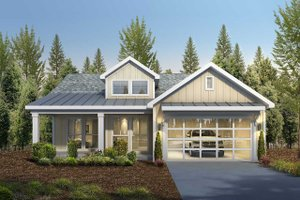Dream House Plan - Craftsman Exterior - Front Elevation Plan #1073-15