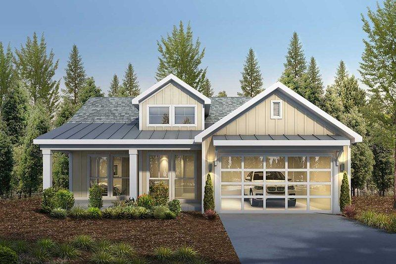 Architectural House Design - Craftsman Exterior - Front Elevation Plan #1073-15
