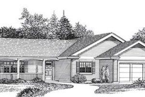 Architectural House Design - Traditional Exterior - Front Elevation Plan #53-238